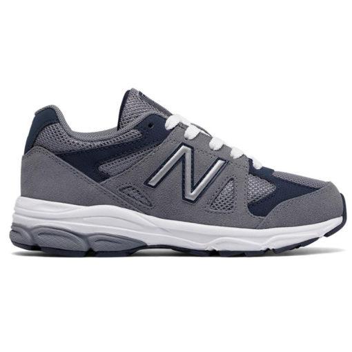 New Balance 888 Grey Navy Kid Lace