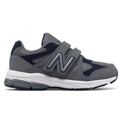 New Balance 888 Grey Navy Kid Velcro
