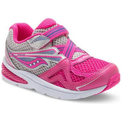 Saucony Kid's B Ride Sneaker Pink Silver