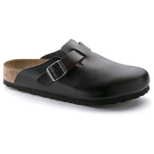 Birkenstock Boston Soft-Footbed Amalfi Black Leather