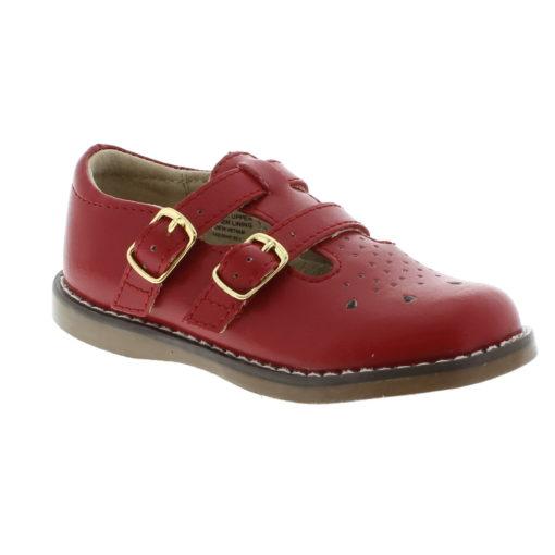 Footmates Kid's Danielle Apple Red Leather