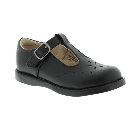 Footmates Kid's Sherry Black Leather