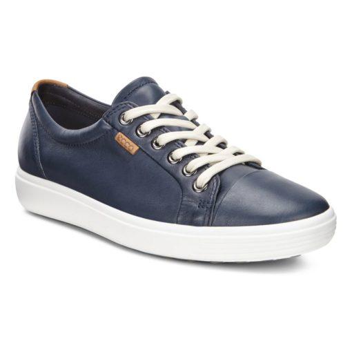 ECCO Women's Soft 7 Sneaker Blue Leather