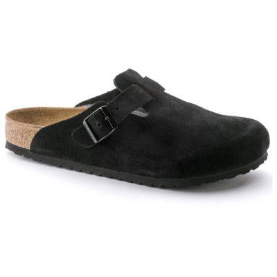 Birkenstock Boston Soft-Footbed Black Suede