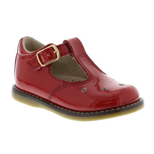 Footmates Kid's Harper Red Patent Leather