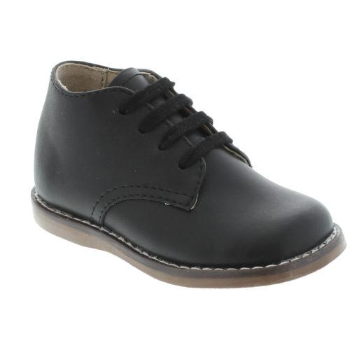 Footmates Kid's Todd Black Leather