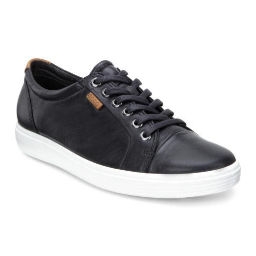 ECCO Women's Soft 7 Sneaker Black Leather