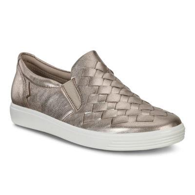 ECCO Women's Soft 7 Woven Warm Grey