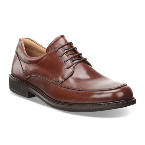ECCO Men's Holton Apron Toe Tie Cognac Leather