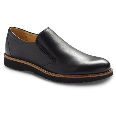 Samuel Hubbard Men's Frequent Traveler Black Leather