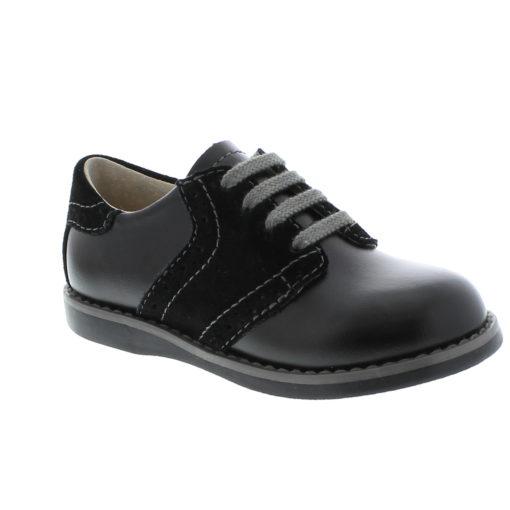 Footmates Kid's Connor Black Leather