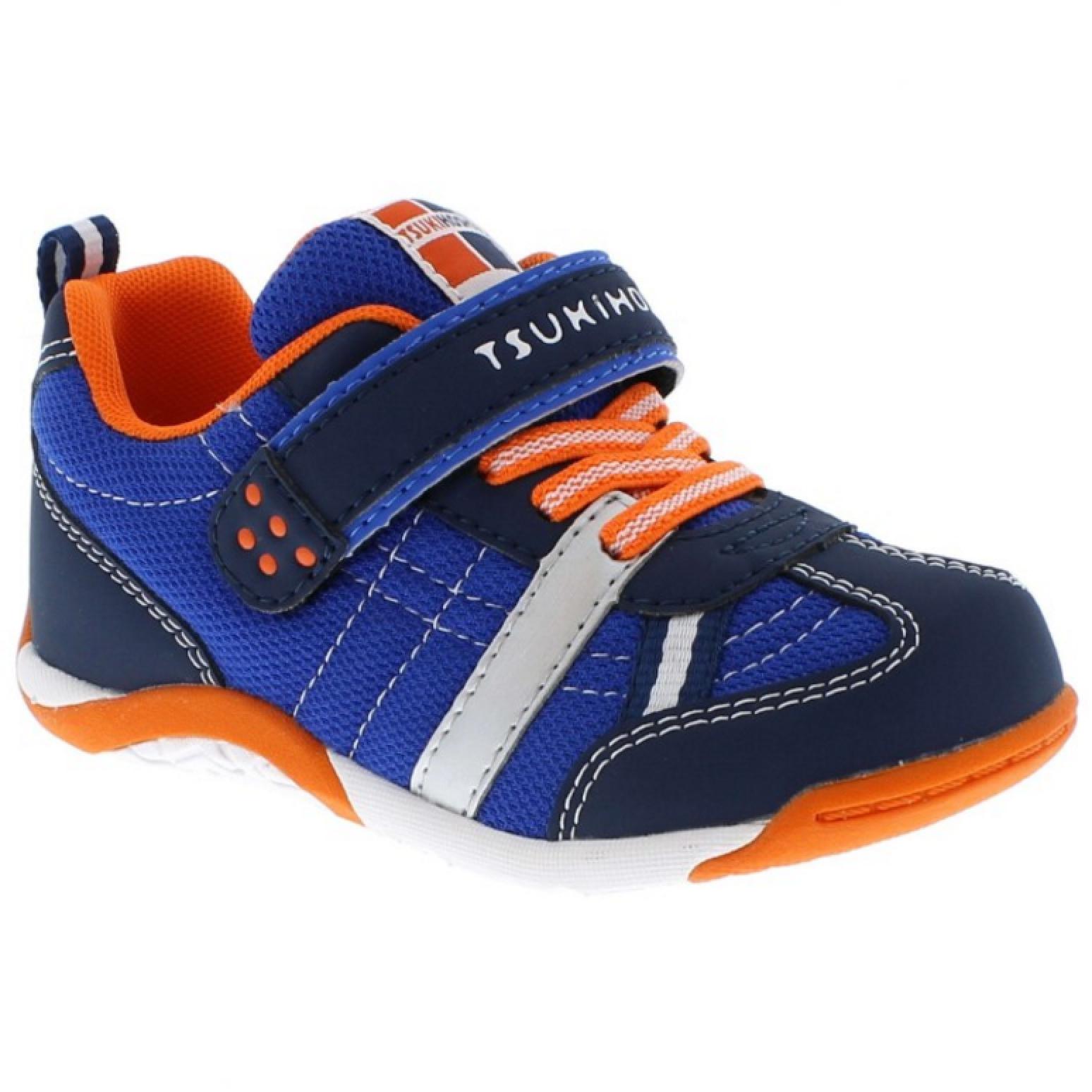 Tsukihoshi Kid Kaz Navy/Orange | Laurie's Shoes