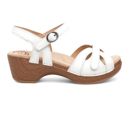 Dansko Women's Season Sandal Full Grain White