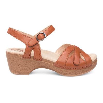 Dansko Women's Season Sandal Full Grain Camel