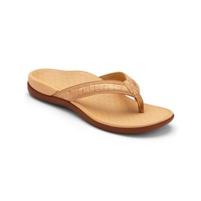 Vionic Women's Tide II Post Sandal Gold Cork