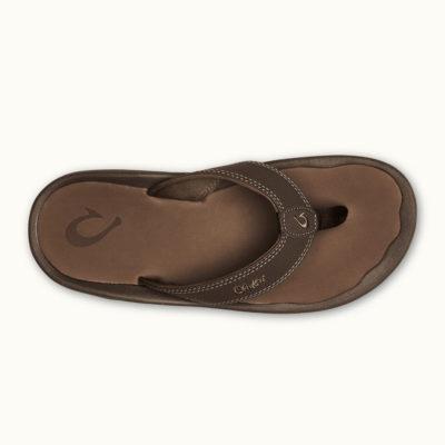 Olukai Men's Ohana Sandal Dark Brown Leather
