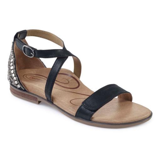 Aetrex Women's Brenda Adjustable Sandal Black
