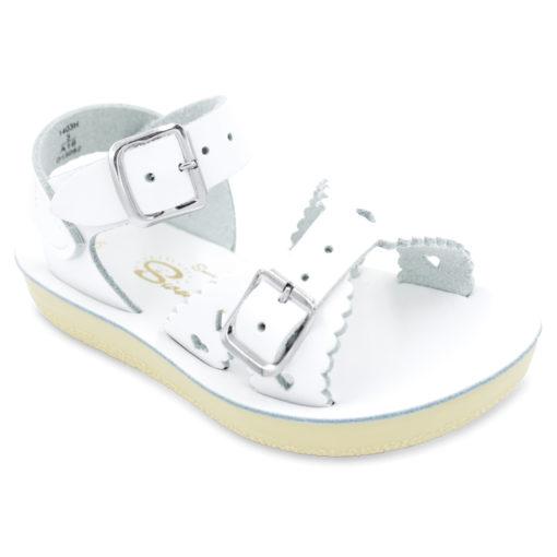 Hoy Sun-San Sweetheart White Leather Toddler/Little Kid