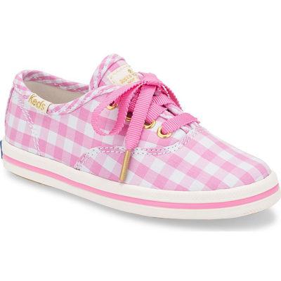 Keds Kate Spade New York Champion Pink Gingham Sneaker Little Kid's
