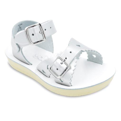 Hoy Sun-San Sweetheart Silver Leather Toddler/Little Kid