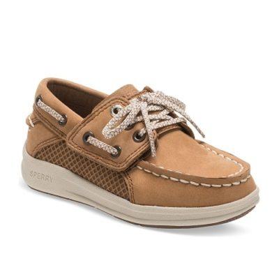 Sperry Kid's Gamefish Boat Shoe Dark Tan Little Kid's