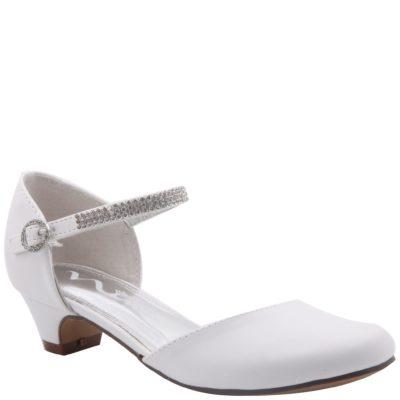 Nina Kid's Cera White Leather