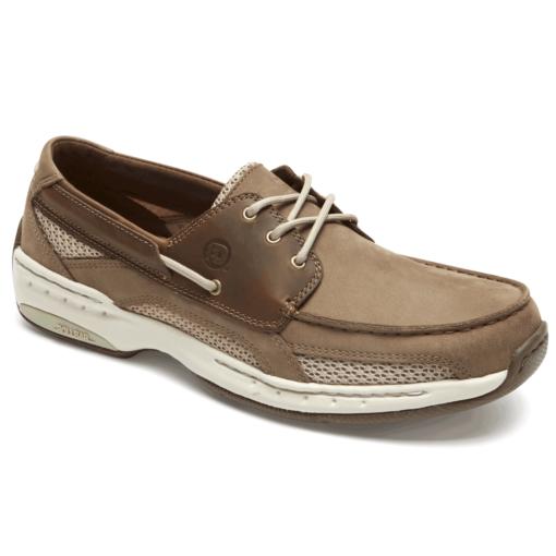 Dunham Men's Captain Boat Shoe Taupe Leather