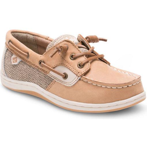 Sperry Songfish Boat Shoe Linen Oat Big Kid's