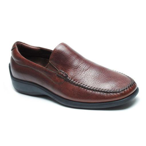 Neil M Men's Rome Venetian Comfort Slip On Brown Leather