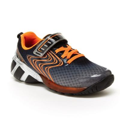Stride Rite Kid's Lights Lux Grey/Orange Sneaker