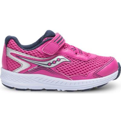 Saucony Kid's Ride 10 Pink/Silver Sneaker