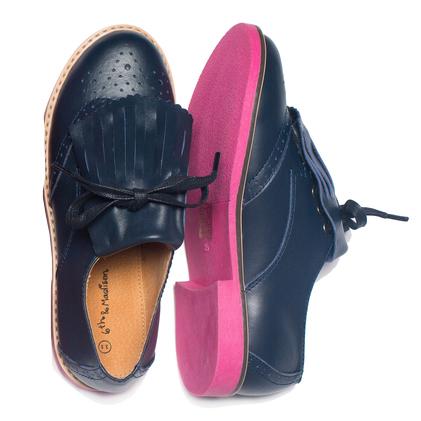 6th & Madison Kid's Brooklyn Brogue Navy Leather