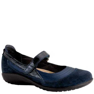 Naot Kirei Polar Sea/Blue Suede/Navy Patent Leather Medium