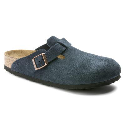 Birkenstock Boston Soft-Footbed Navy Suede Leather Regular