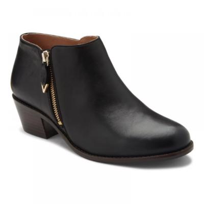 Vionic Women's Jolene Bootie Black Leather