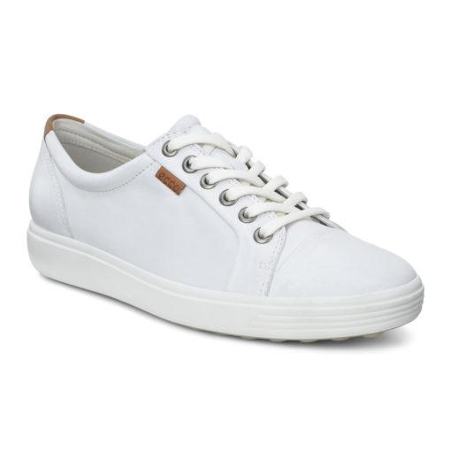 ECCO Women's Soft 7 Sneaker White Leather