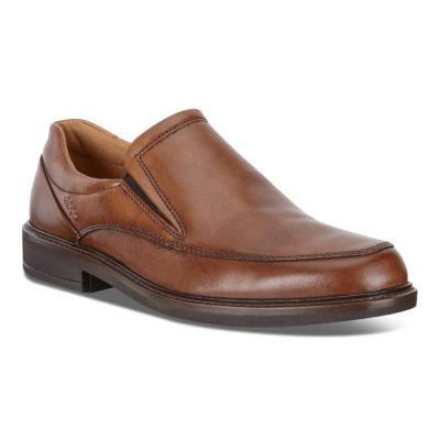 ECCO Men's Holton Apron Toe Slip On Amber Leather