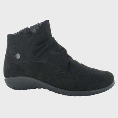 Naot Women's Kahika Boot Black Velvet Nubuck