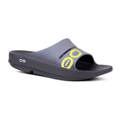 Oofos Ooahh Gray Sport Slide Sandal