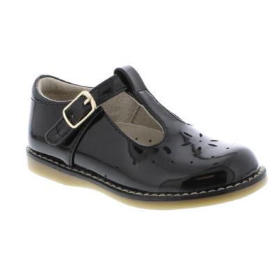 Footmates Kid's Sherry Black Patent Leather