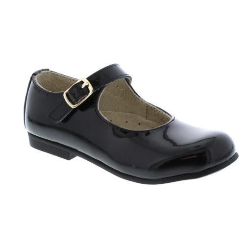 Footmates Kid's Laura Black Patent Leather