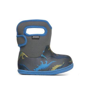 Bogs Baby/Toddler Waterproof Boots Dino Dark Grey/Multi