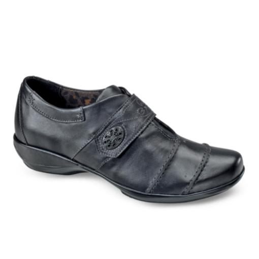 Aetrex Women's Corinne Monk Strap Black Leather