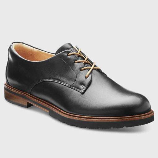 Samuel Hubbard Women's All Aboard Black Polished Leather/Black Sole