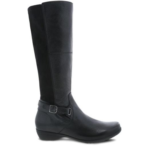 Dansko Women's Francesca Boot Black Milled Nappa