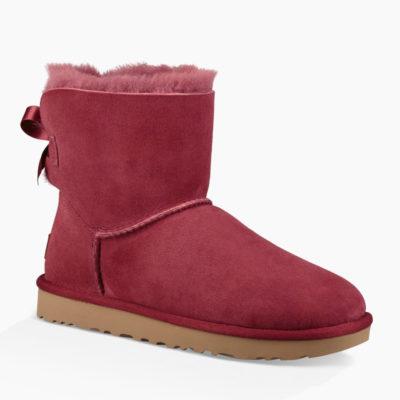 Ugg Mini Bailey Bow II Women's Garnet Boot