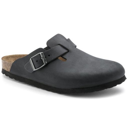 Birkenstock Boston Black Oiled Leather