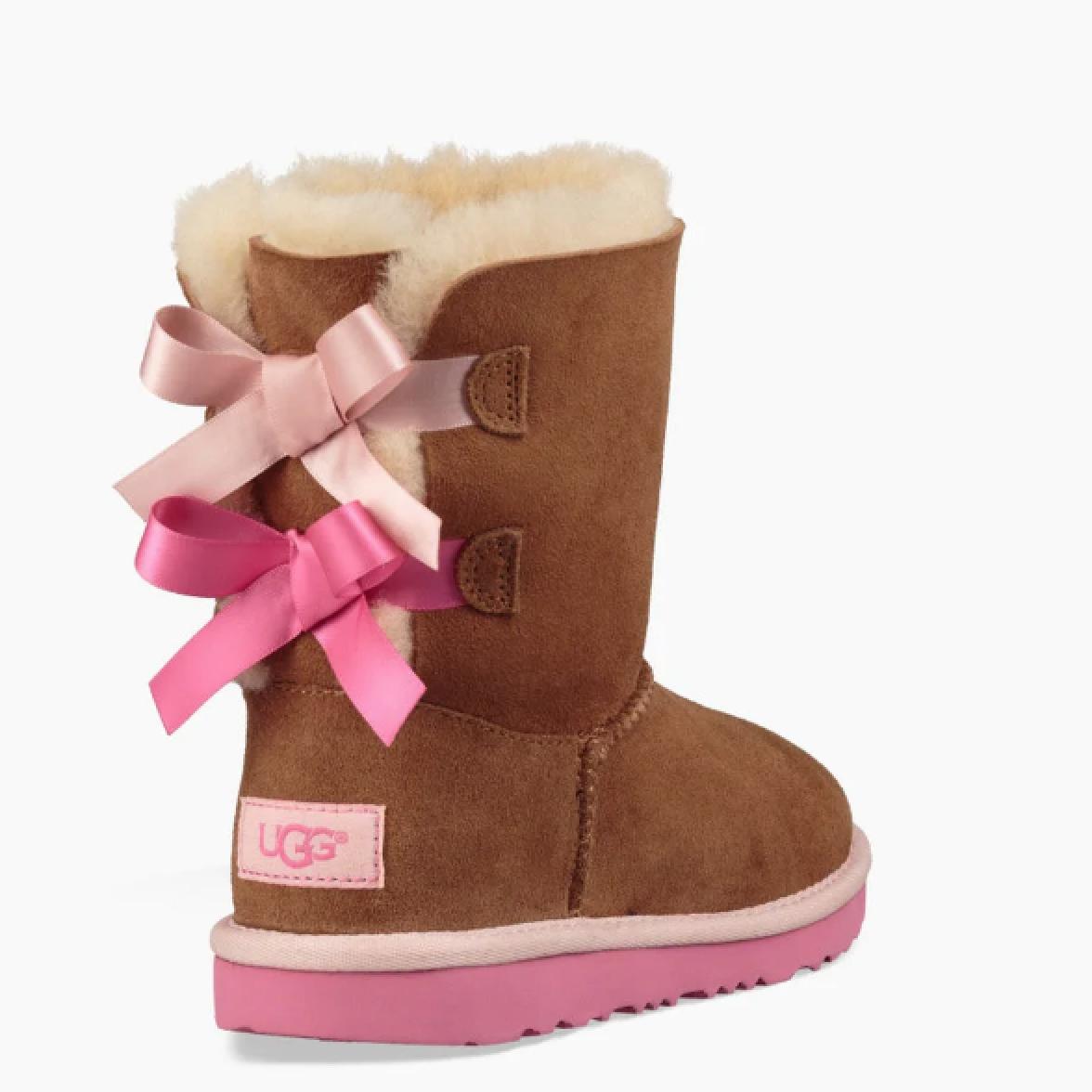 Ugg Bailey Bow II Kid's ChestnutPink Azalea Boot