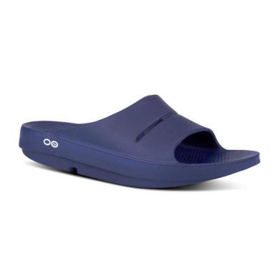 oofos ooahh navy slide sandal