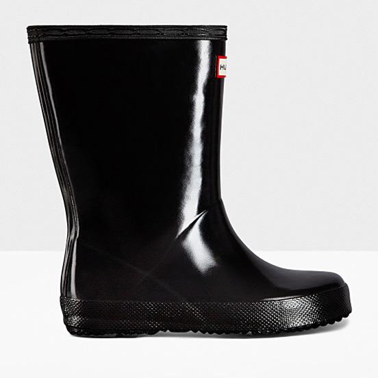 0e27ce9b31b6 Hunter Little Kid s First Classic Gloss Rain Boots Black